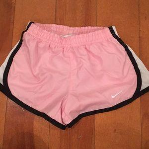 Nike Girls Pink Dri Fit athletic shorts